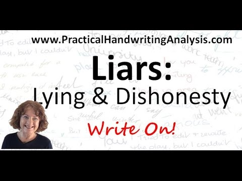 Liars: Lying and Dishonesty from Handwriting Analysis - Graphology