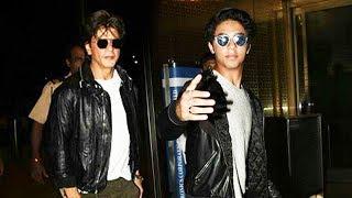 Dashing Shahrukh Khan & Aryan Khan SPOTTED At Mumbai Airport