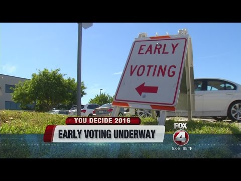 Florida Voters Vote Early