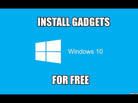 How to Install/Enable Gadgets on Windows 10