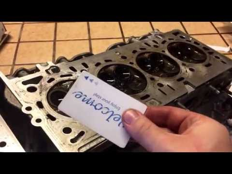 How to clean cylinder head block valves aluminum foil