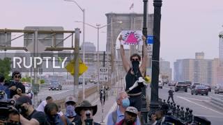 USA: Protesters decry George Floyd killing at Brooklyn demo