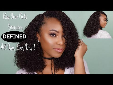 How To Maintain & Define Kinky Curly Hair Extensions | Her Given Hair