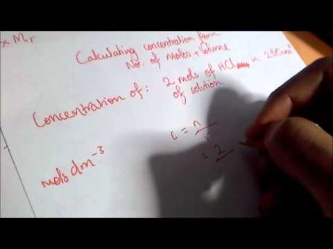 Moles Calculations in Chemistry (Including making up a standard solution)