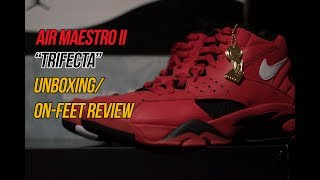 """a68579004e7361 Air Maestro II Art of A Champion """"Trifecta""""  Sneaker Unboxing  Review"""