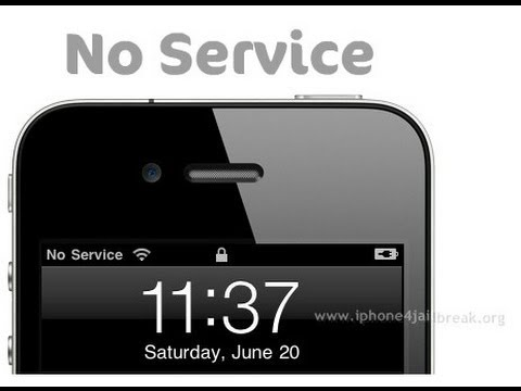 How to get The signal back after doing the screen on an iPhone 4s 4