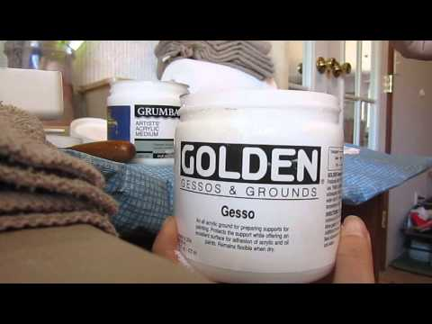Comparing different gesso brands, cheap stuff, Golden, and Grumbacher
