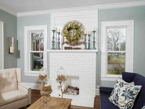 HGTV Living Room with a Corner Fireplace Ideas