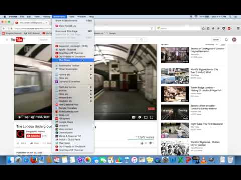 Get rid of Recently Bookmarked from Bookmarks Menu Firefox Mac