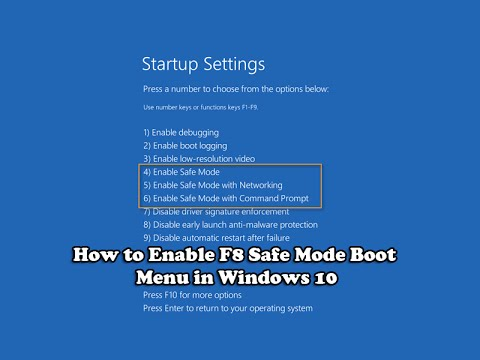 How to Enable F8 Safe Mode Boot Menu in Windows 10