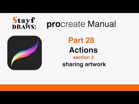 Procreate Tutorial Part 28: Sharing Artwork