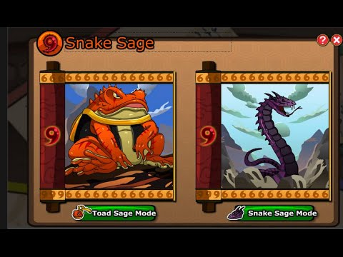 Ninja saga [ Tutor Exam Rewards ] [ New sage mode Preview ] Senjutsu Toad Mode Or Snake Mode ?