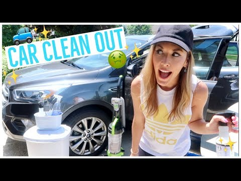 CLEAN WITH ME 2018 ✨🚙 | MY CAR IS DISGUSTING 🤢 | CLEANING A REALLY MESSY MOMMY CAR | Brianna K