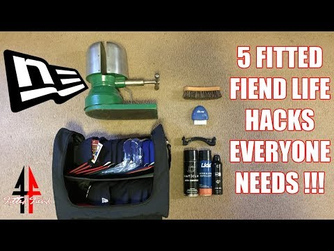 5 FITTED FIEND LIFE HACKS EVERYONE NEEDS !!! FITTED FIEND EP. 11 (NEW ERA CAP SERIES)