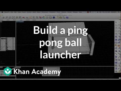 Build a ping pong ball launcher