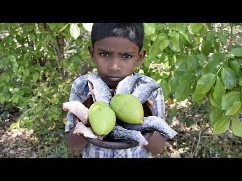 Small boy making fish curry with MANGO | Tasty fish curry ever | Small cooking fish curry