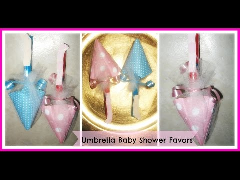 How to Make Umbrella Baby Shower Favors Tutorial/ DIY Candy Umbrella Baby Shower Favors