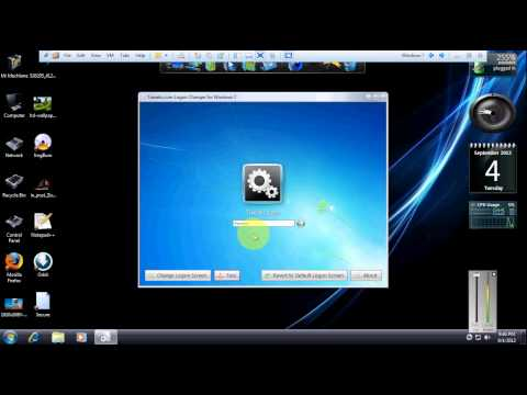 How to change Logon Screen in Windows 7 as well as in Windows 8