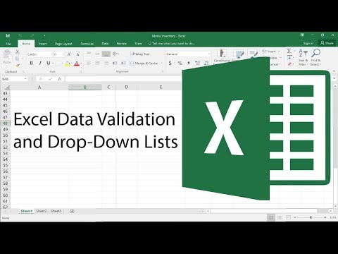 Advanced Excel - Data Validation and Drop-Down Lists