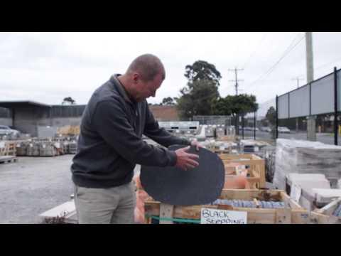 Black stepping stone for Australian gardens