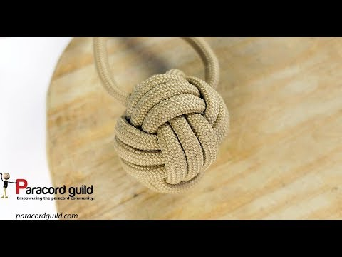 Monkey's fist knot alternative- turk's head tied flat