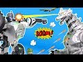 MECHAGODZILLA Vs T9 FIGHTING ROBOT Godzilla Toys Real Transformers Robots