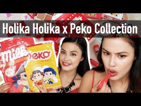 NEW Holika Holika x Sweet Peko Collection Haul, Demo, and First Impressions