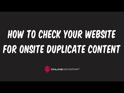 How to Check for Duplicate Content on YOUR website