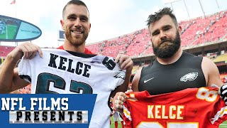 Jason and Travis Kelce: Close Brothers Who are Both Different and Alike | NFL Films Presents