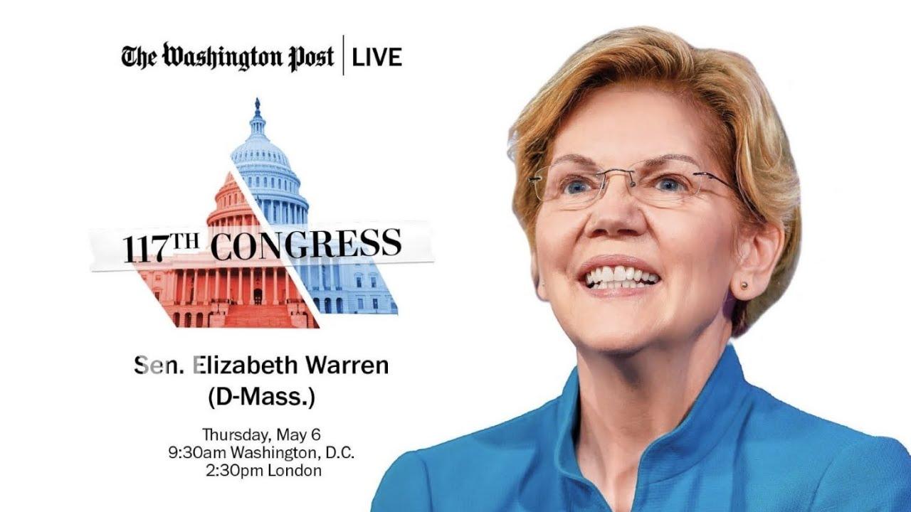 LIVE: Sen. Elizabeth Warren (D-Mass.) shares her top legislative priorities