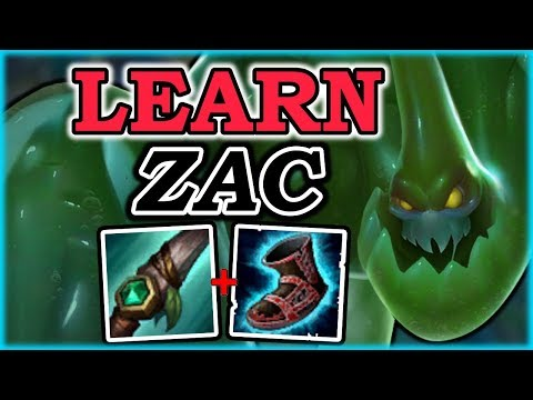 HOW TO PLAY ZAC LIKE A PRO IN 11 MINUTES - Zac Jungle Guide - League of Legends Champion Guide: Zac
