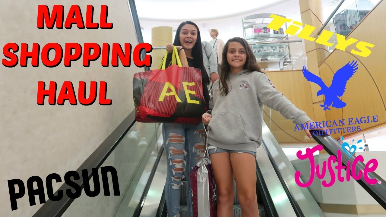 SHOP WITH ME SPENDING MY BIRTHDAY MONEY! MALL SHOPPING HAUL! EMMA AND ELLIE