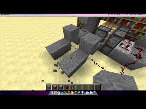 Minecraft-How to make a bookcase secret entrance/door