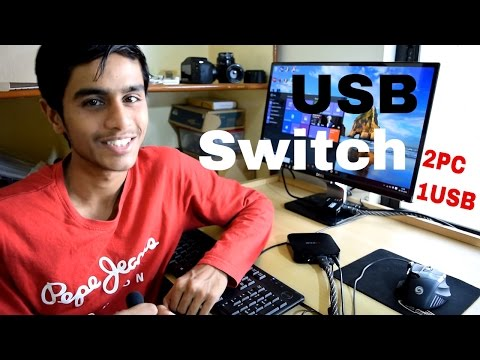 USB Switch for Keyboard and Mouse - USB Peripheral Sharing Switch