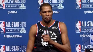 Kevin Durant Postgame Interview - Team LeBron vs Team Giannis   2019 NBA All-Star Game