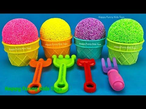 Play Foam Ice Cream Cups Kinder Surprise Eggs Disney Friendz Toy Story Chupa Chups PJ Masks Catboy