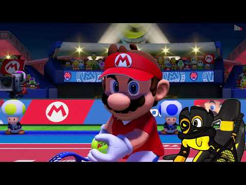 TESTING THE RACKET... | Mario Tennis Aces Online Tournament Demo