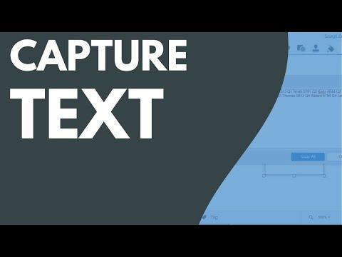 Snagit 2018: Text Capture