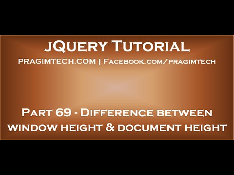 Difference between window height and document height