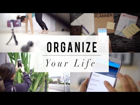 5 LIFE TIPS On HOW-TO Organize Your Life w/ Your Phone | ANN LE