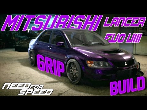 Need For Speed Grip Build : Mitsubishi Lancer Evolution VIII MR RACING OUTLAWS & COPS