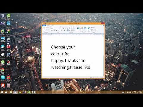 How to change start menu color in windows 8.1