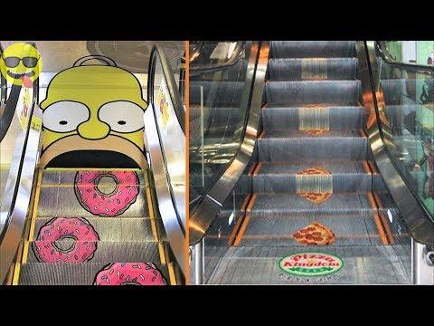 Funny and Creative Escalator Advertisements