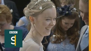 Jessica walked for the first time in 10 years, it was her wedding day - BBC Stories