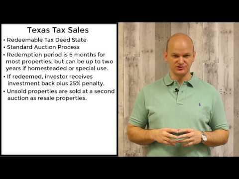 Texas Tax Sales - Redeemable Tax Deeds