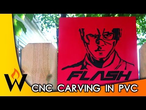 The Flash - CNC Carving in PVC - FREE Pattern