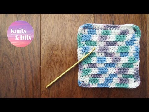 Crochet a cute dishcloth! Quick and easy tutorial
