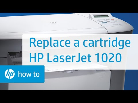 Replacing a Cartridge - HP LaserJet 1020 Printer