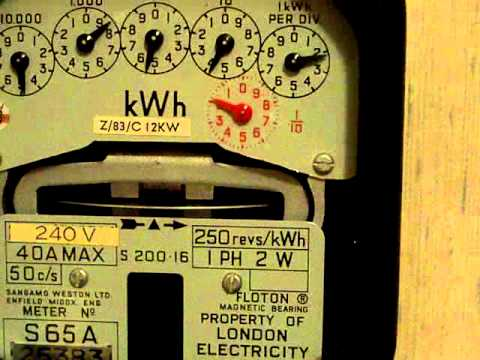 Electricity meter : Accuracy test, Clock-dial S200.16 (Sangamo Weston)