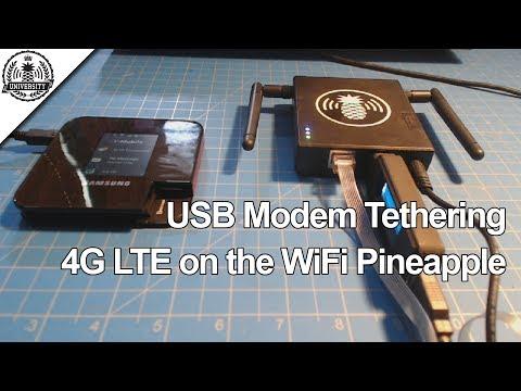 4G LTE Modem Tethering - WiFi Pineapple Mark V - Pineapple University